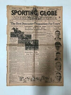Sporting Globe Newspaper From April 17Th 1935, 12 Pages Complete