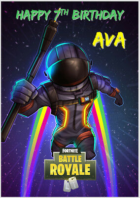Fortnite Battle Royale Game Xbox Ps4 Playstation Birthday Card A5