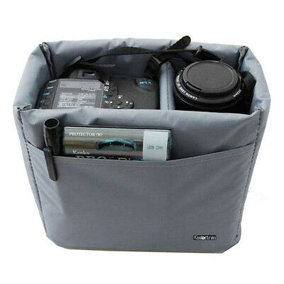 DSLR SLR Camera Bag Partition Padded Insert Protection Case for photo accessorie