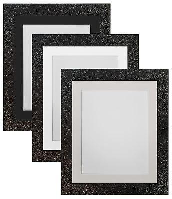 Cabaret Black Picture Photo Frames with White, Black and Ivory Mounts