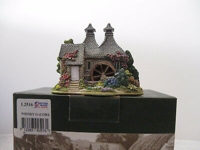 """Lilliput Lane L2516 """"WHISKY GALORE"""" In mint condtion with deed in original box."""