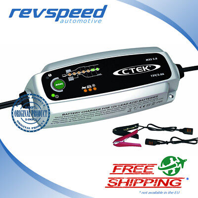 CTEK MXS 3.8 Multi-Functional 7-Stage Battery Charger, 12V 3.8 Amp (EU Plug)