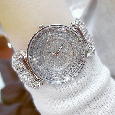 Stylish Women Watch Personalized Full Rhinestone Steel Quartz Wristwatch GA