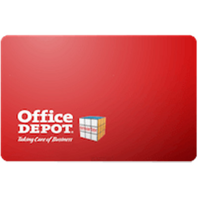 Office Depot Gift Card $50 Value, Only $45.50! Free Shipping!
