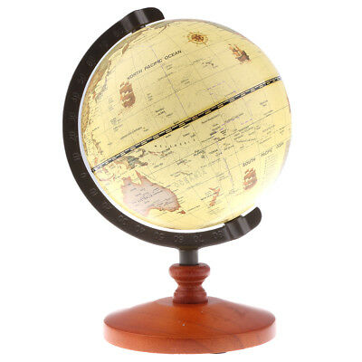 World Globe Earth Ocean Map Rotating Stand Geography Education Office Decor