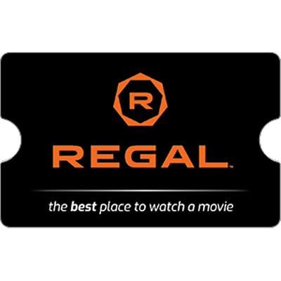 Regal Cinemas Gift Card $15 Value, Only $13.00! Free Shipping!