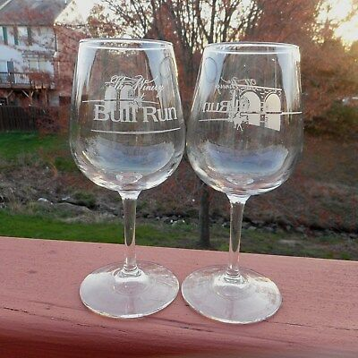 The Winery At Bull Run Stemmed Wine Glasses 2 Centreville Virginia Winery