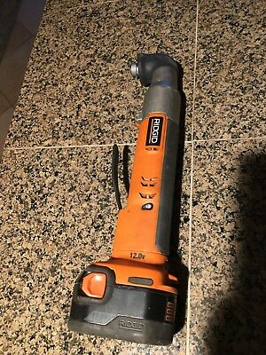 RIDGID 12 Volt Right-Angle Impact Driver R82233 With Battery/Charger/CarryBag
