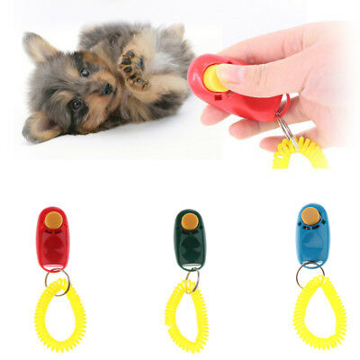 MULTI CLICKER WHISTLE EASY DOG PUPPY PET TRAINING Obedience Agility Keyring