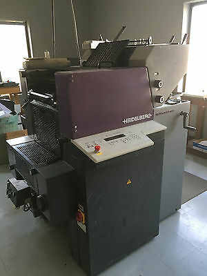 Heidelberg QM 46-2 Printing Press, IR Dryer & Spray!
