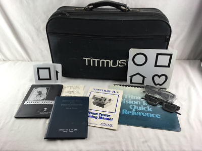 Titmus 2S II-S Vision Tester with Case, Cover and Extras - See Photos for Detail