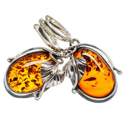 """Baltic Amber 925 Sterling Silver Earrings 1 1/2"""" Ana Co Jewelry E363282"""