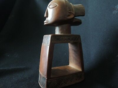 SPLENDID CARVING of a LUBA DIVINATION IMPLEMENT DR OF CONGO