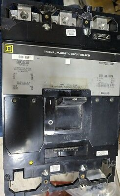 Used Square D Map36600  600 Amp 3 Pole  600 Vac Circuit Breaker