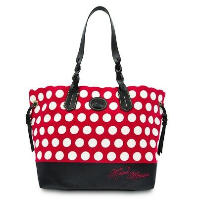 DISNEY Dooney & Bourke MINNIE MOUSE Rock The Dots Tote Red While Black Heart NWT