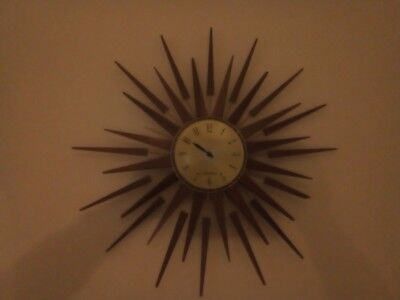seth thomas starburst spares or repares antique collectable clock.