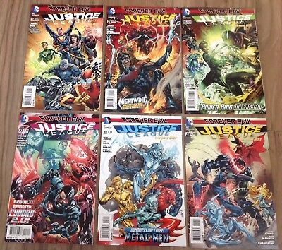Justice League # 24, 25, 26, 27, 28, 29. Forever Evil. DC New 52