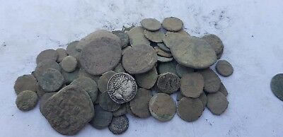 Lot Of 90 Anciet Roman Uncleaned Imperial Coins