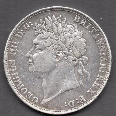 1822 George IVth. CROWN Silver in very good nice looking condition Quality Item