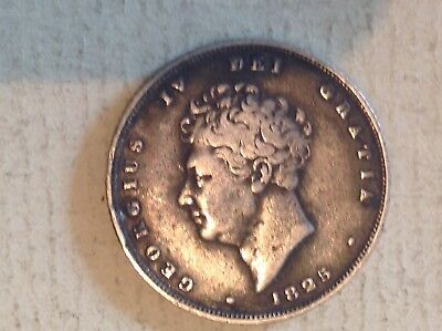 Very Fine George 4 1825 Shilling, Uncleaned.