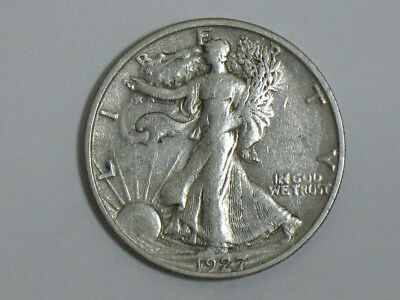 1927 s Walking Liberty high grade{trends$200 in low XF}no problems