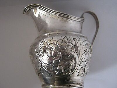Geogian Solid Silver Cream Jug made in London in 1797 by Samuel Davenport