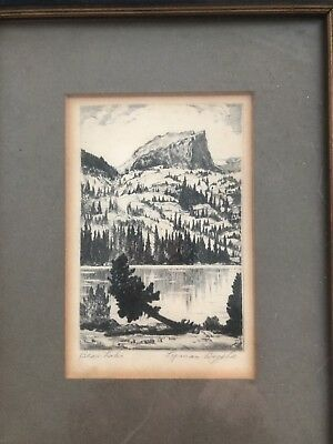 "Lymen Byxbe Original Hand Signed ""Bear Lake"""