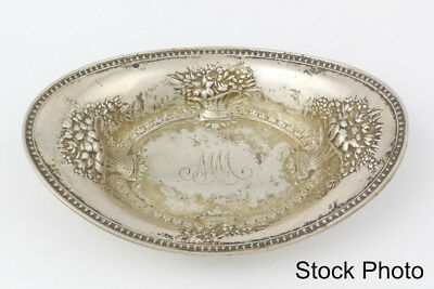 Vintage Sterling Silver Small Candy/Nut Dish Floral Pattern