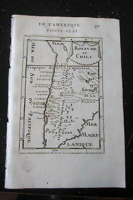 Chili - Allain Manesson Mallet, Paris 1683 1 map