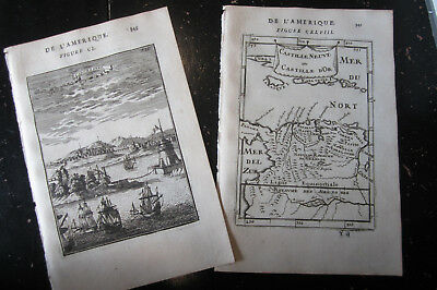 Cartegena Columbia - Allain Manesson Mallet, Paris 1683 1 map 1 city view