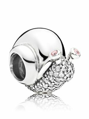 New! Authentic Pandora Sterling Silver 925 Sparkling Snail Charm #797063CZ