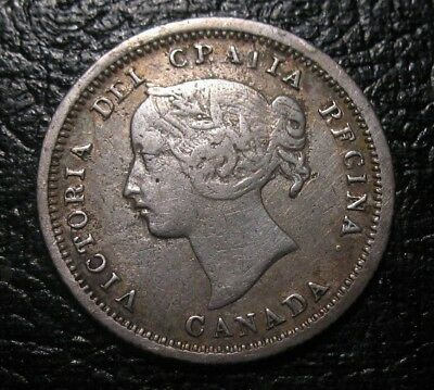 Old Canadian Coins 1858 First Year Canada Beauty Five Cents