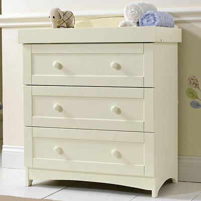 East Coast Nursery 3 Drawer Dresser In Cream Furniture Changing Top