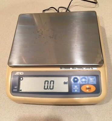 A&D EK-1200G Max 1200g d=0.1g Jewelry scale legal for trade