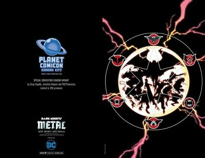 Dark Nights Metal 5 Planet Comicon Signed With Coa Shadow Variant Limited To 250