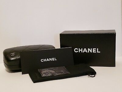 Chanel Sunglasses Case Large, Black Quilted Leather, includes Certificate & Box.