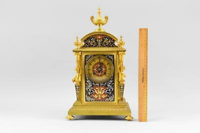 Gilt Bronze Champleve French Mantle Clock By Tiffany & Company Works No Reserve