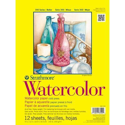 Strathmore Watercolour Paper Pad Cold Press 300gsm 12 Sheets