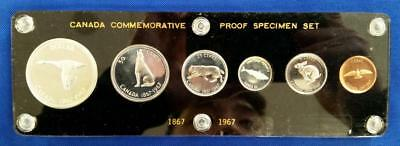 6-piece 1967 CANADA 80% SILVER Proof Like Set in holder    L1528