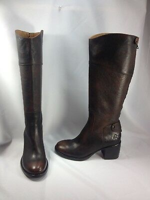 34835507f56 PATRICIA NASH LORETTA Tall Shaft Leather Boot Cuffs CAFE BROWN 8 NEW ...