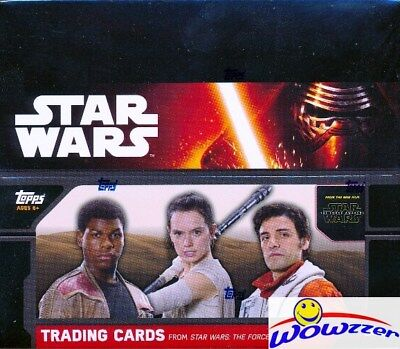 2015 Topps Star Wars the Force Awakens SPECIAL HOBBY EDITION HUGE 24 Pack Box !