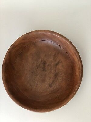 Antique EARLY Carved Wooden Bowl Primitive Treen