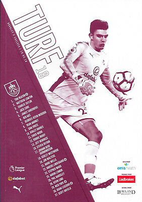 Burnley v Chelsea matchday programme 19th April 2018