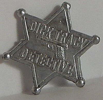1920 Cracker Jack? Metal Shirt Stud Dick Tracy Detective Star Shaped Silvered