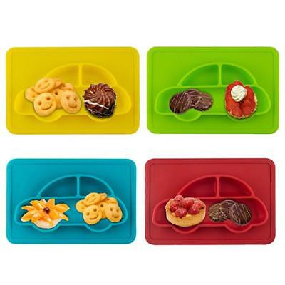Baby Kids One-piece Silicone Mat Table Food Dish Tray Placemat Plate Bowl J