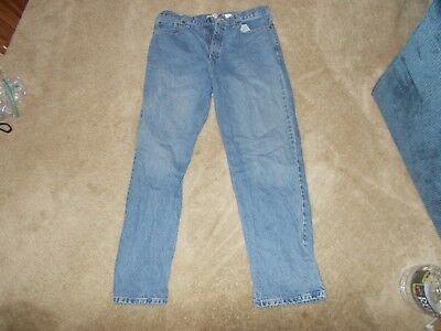 """Faded Glory Loose fitting Men's Jeans 34"""" x 32"""" 100% cotton Denim"""