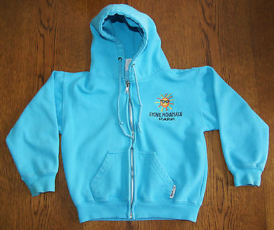 Girls Blue Zip Up Hoodie from Stone Mountain size 5
