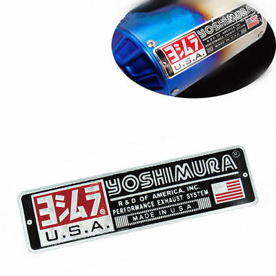 3D Motorcycle Heat Resistant Exhaust Pipe Sticker Yoshimura USA Logo Sticker New
