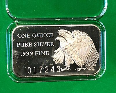 200 Years Of Independence 1976 American Eagle 1 Troy Oz .999 Fine Silver Bar USA