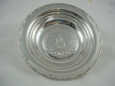 Vintage 1930's M. Aase Norway M/y Stella Poloris Ship  Nut Dish 830 Sterling
